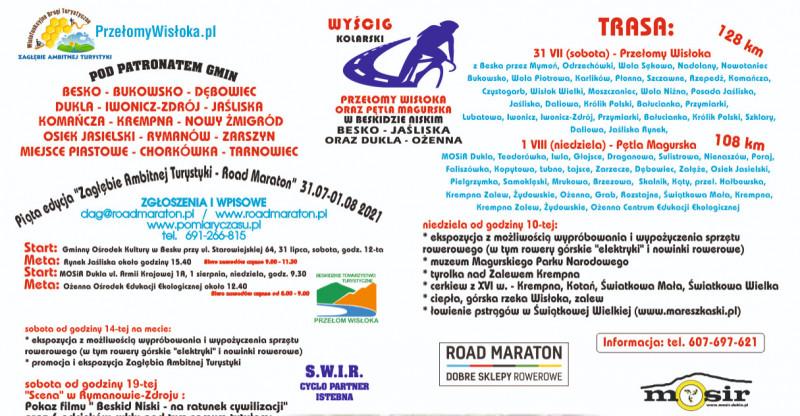 Zagłębie Ambitnej Turystyki organizuje Przełomy Wisłoka Road Maraton